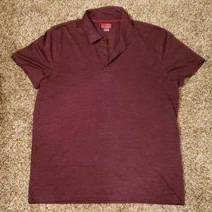 Men's Dark Red Performance Polo Shirt